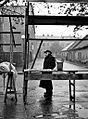 Miloň Novotný, Prodavač hub, Prostějov 1955.jpg