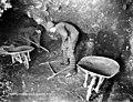 Miners with picks and wheelbarrows working underground in Claim No 16 near Eldorado Creek, Yukon Territory, March 1901 (AL+CA 2976).jpg