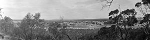 Mingenew, Western Australia - 1920s panorama of Mingenew, taken from Mingenew Hill, overlooking the town