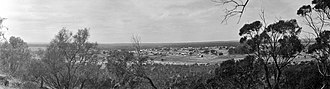 Mingenew, Western Australia - 1920s panorama of Mingenew, taken from Mingenew Hill, overlooking the town