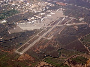 Marine Corps Air Station Miramar - The Miramar flight line from above