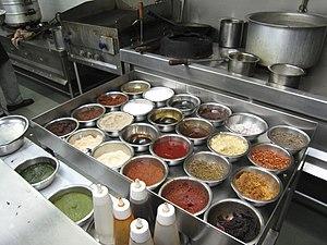 Mise en place - Mise en place in a professional kitchen