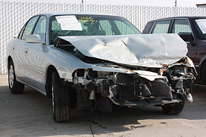 English: Mitsubishi Galant involved in an accident