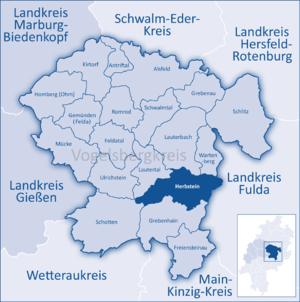 Herbstein - Image: Mittelhessen Vogelsberg Her