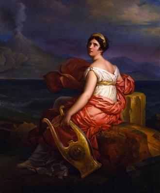 Germaine de Staël - François Gérard (1770–1837), Carnavalet Museum. Mme. de Staël as her character Corrine (posthumously)
