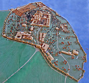 Scale model of Seraglio Point with the Topkapı Palace complex