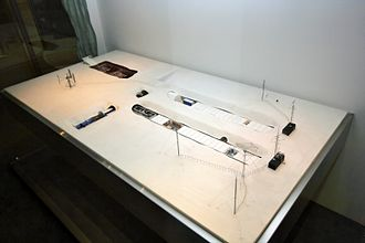 Neumayer-Station II - Model of the station in a museum in Bonn.