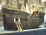 Model of a taforeia, Museu de Marinha, Lisbon.JPG