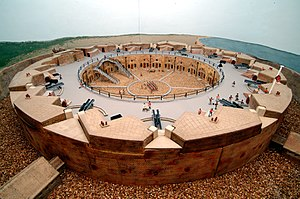 Eastbourne Redoubt - Image: Model of the Redoubt Fortress