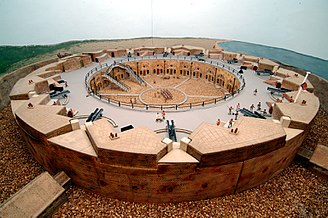 Eastbourne Redoubt - A model of the Redoubt Fortress on display at the museum