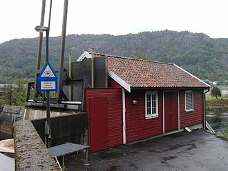 Moi, Norway - Small hydroelectric power station in Moi