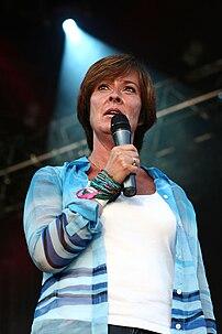 Mona Sahlin during Stockholm Pride 2007.