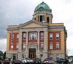 Monroe Countys domstolshus i Woodsfield.