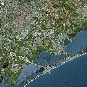 Montpellier - Montpellier seen from Spot satellite