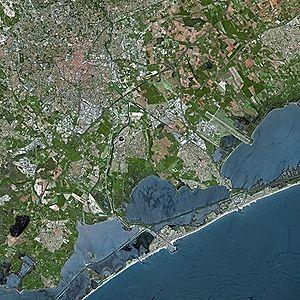 Montpellier - Montpellier seen from Spot satellite