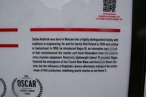 Stefan Kudelski - The detailed description on monument.