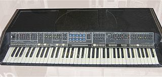 Polymoog synthesizer model