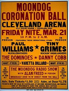 Moondog Coronation Ball Landmark popular music event; regarded as the first major rock and roll concert