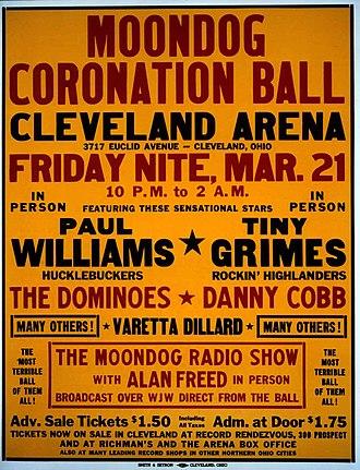 Moondog Coronation Ball - Concert poster