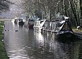 Moored Canal Boats Froncysyllte - geograph.org.uk - 770494.jpg
