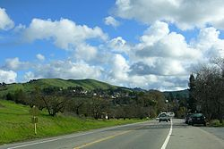 Moraga Way view toward Moraga Road