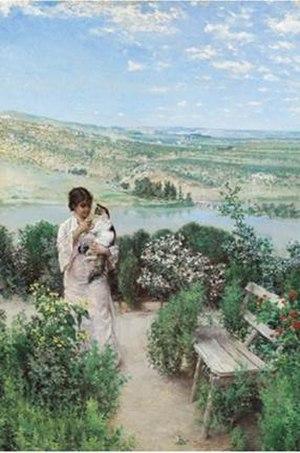 Matías Moreno - Flower Garden with View, Near Toledo