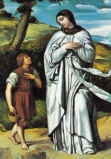 painting by Moretto da Brescia