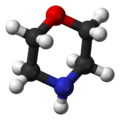 ball-and-stick model of the morpholine molecule
