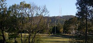 Mount Coot-tha, Queensland - Mount Coot-tha and telecommunication towers.