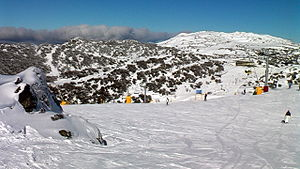 Perisher Ski Resort - Mount Blue Cow opened in 1987 as the last great development in the New South Wales skifields.
