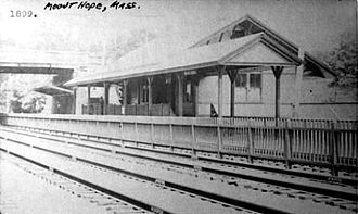 Mount Hope station - Inbound station building in 1899