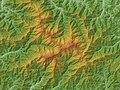 Mount Iide Relief Map, SRTM-1 (Unmarked).jpg