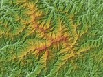 Mount Iide Relief Map, SRTM-1 (Unmarked).jpg