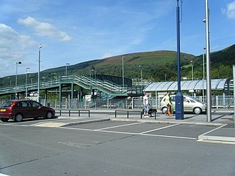 Mountain Ash railway station - Image: Mountain Ash railway station and car park geograph.org.uk 2053136