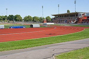 Mountbatten Centre - Mountbatten Centre athletics track