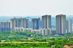 Skyline of Zhongjiang County