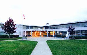 Mount Douglas Secondary School - Mt. Doug SS, main entry 2015