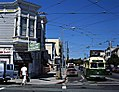 Muni 1058 on Noe Street, September 1996.jpg
