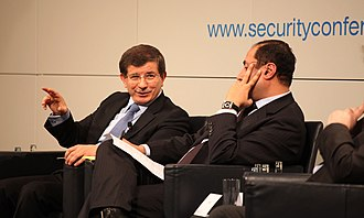 Neo-Ottomanism - Then-Foreign Minister Ahmet Davutoğlu and Hossam Zaki, Senior Advisor to the Foreign Minister of Egypt, at the Munich Security Conference in 2010