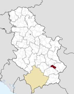 Gadžin Han Village and municipality in Southern and Eastern Serbia, Serbia
