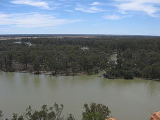 Chowilla, South Australia - Chowilla as viewed from Headings Cliff on the opposite side of the Murray River.