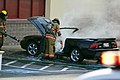 Mustang car fire at CVS on Key West Highway in North Potomac MD July 12 2012 (7575640722).jpg