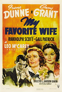 <i>My Favorite Wife</i> 1940 film by Garson Kanin