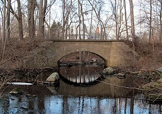 Norwich and Westerly Railway - Bridge over Assekonk Brook behind Wheeler High School in North Stonington