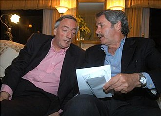Felipe Solá - Felipe Solá (right) and President Néstor Kirchner during the 2005 mid-term elections.