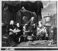 N. Verkolje - Familieportret van de familie Sijdervelt. Zitters, Jacob Sijdervelt (geb.1696) en zijn echtgenote Ma - C1882 - Amsterdam Museum.jpg