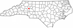 Location of Statesville, North Carolina