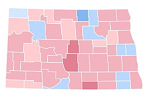 United States presidential election in North Dakota, 1992 - Image: ND1992