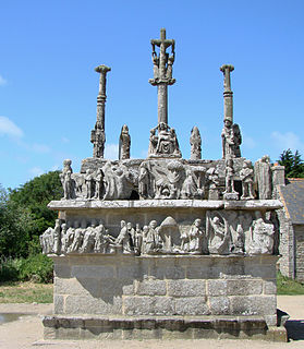 Calvary at Tronoën Calvary located in Finistère, France