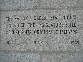 New Hampshire State House - New Hampshire State House inscription